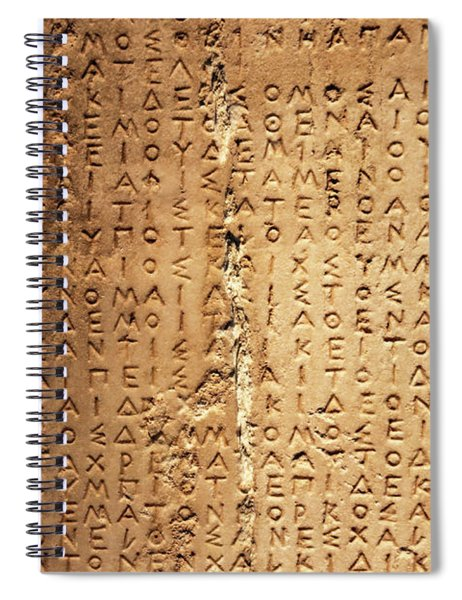 Ancient Greek Carved Into Stone Spiral Notebook