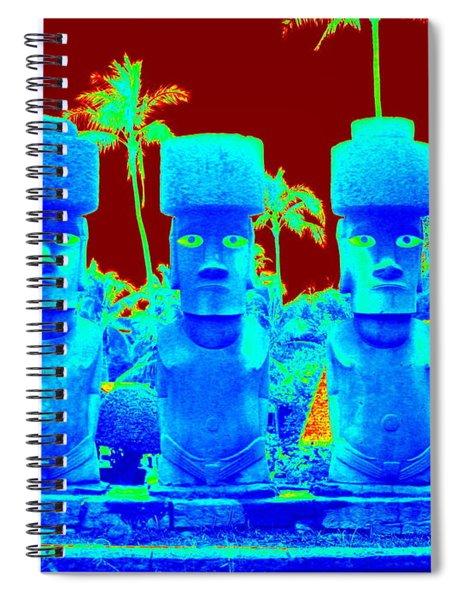 Ancient Idols Spiral Notebook