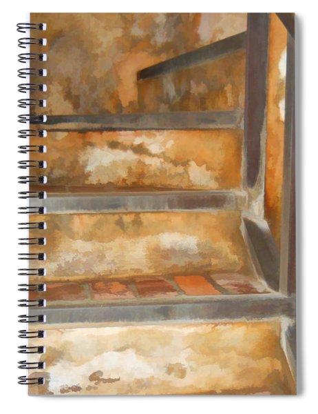 Ancient Stairway Spiral Notebook