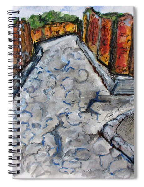 Ancient Street, Pompeii Spiral Notebook
