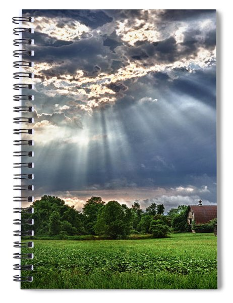 And The Heavens Opened 1 Spiral Notebook