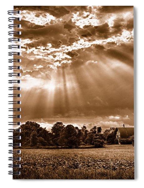 And The Heavens Opened 3 Spiral Notebook