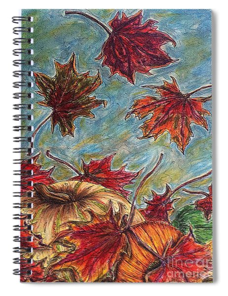 And The Leaves Came Tumbling Down Spiral Notebook