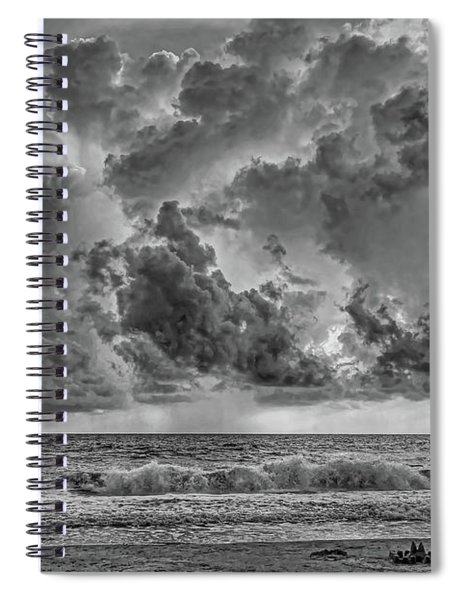 And The Rains Came 2 - Clouds Spiral Notebook