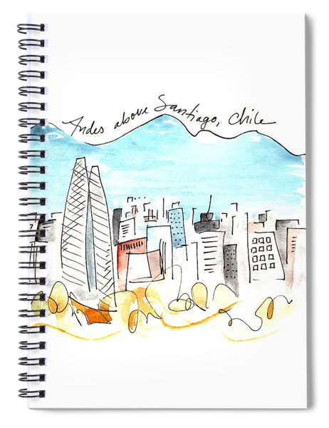 Andes Above Santiago Spiral Notebook