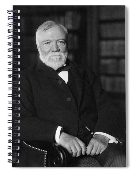 Andrew Carnegie Seated In A Library Spiral Notebook