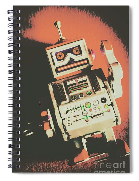 Android Short Circuit  Spiral Notebook