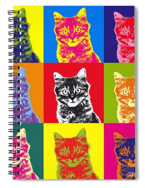 Andy Warhol Cat Spiral Notebook