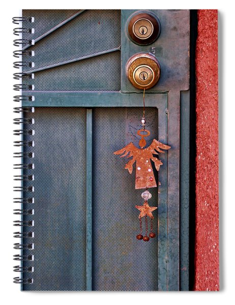 Angel At The Door Spiral Notebook
