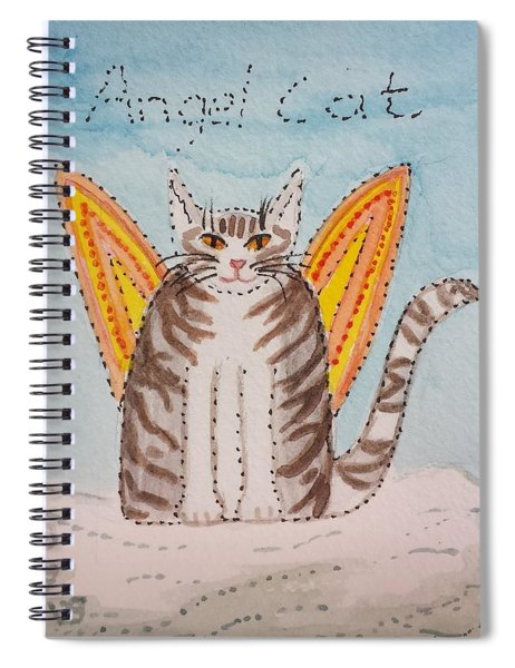Angel Cat Spiral Notebook