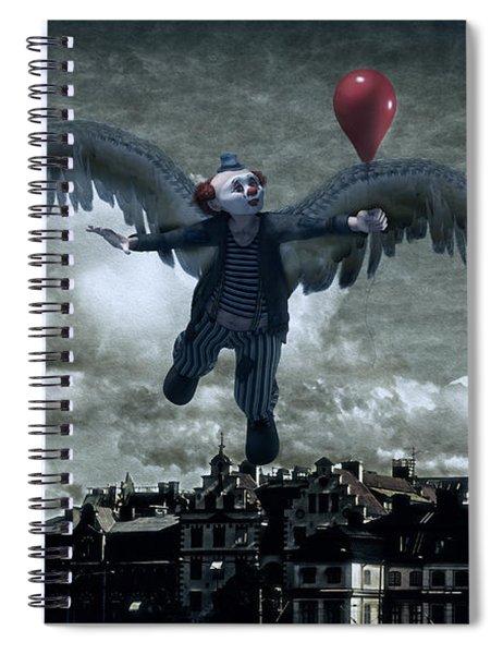 Angel Clown With Balloon Spiral Notebook