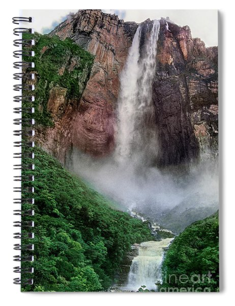 Angel Falls Canaima National Park Venezuela Spiral Notebook by Dave Welling