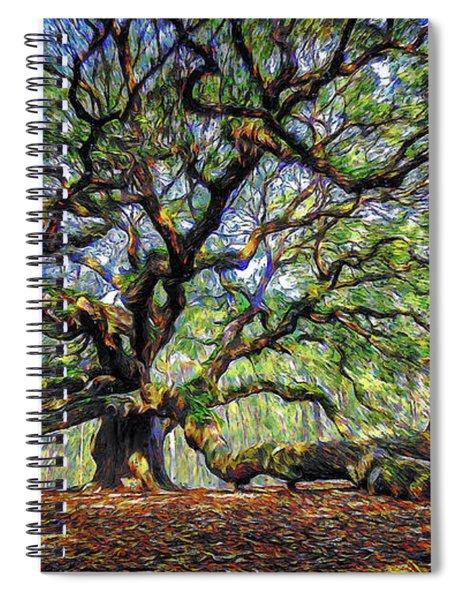 Angel Oak In Digital Oils Spiral Notebook