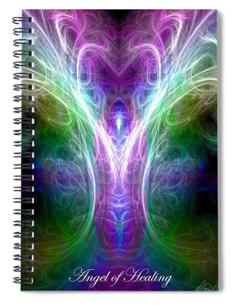 Angel Of Healing Spiral Notebook