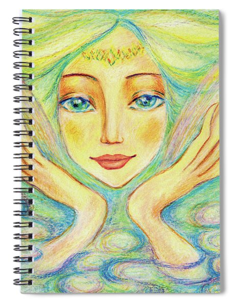 Angel Of Serenity Spiral Notebook