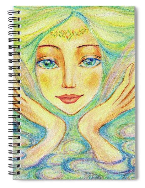 Angel Of Serenity Spiral Notebook