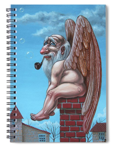 Angel Of The Chimney Spiral Notebook