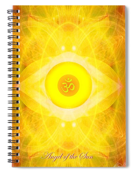 Angel Of The Sun Spiral Notebook