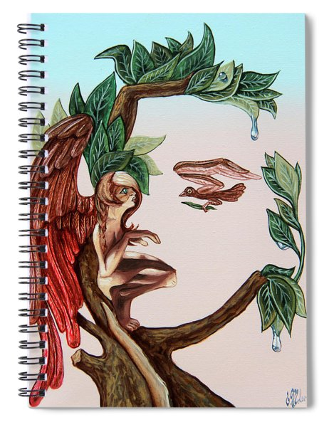 Angel, Watching The Reincarnation Of Marilyn Monro. Op.2769 Spiral Notebook