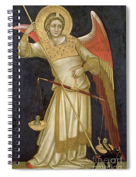 Angel Weighing A Soul Spiral Notebook