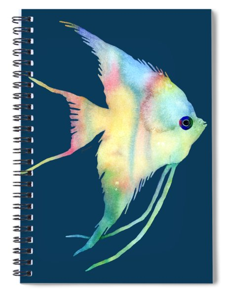 Angelfish I - Solid Background Spiral Notebook