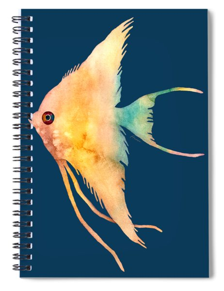 Angelfish II - Solid Background Spiral Notebook