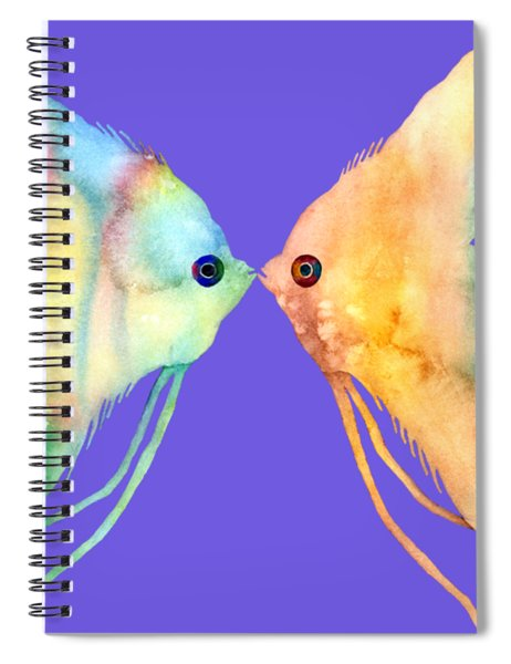 Angelfish Kissing Spiral Notebook by Hailey E Herrera