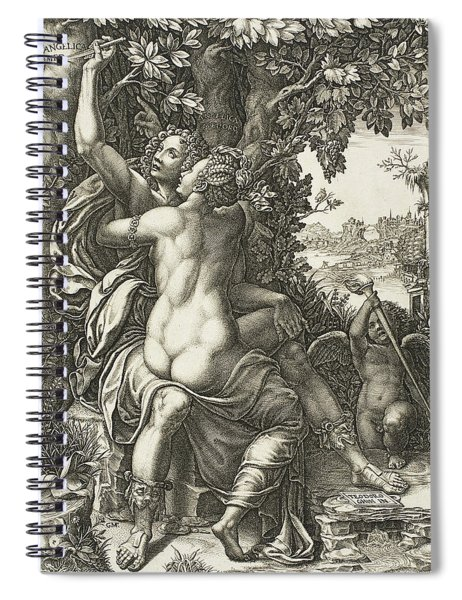 Angelica And Medoro Spiral Notebook