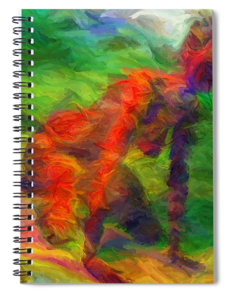 Angelie And The Kneeboard Spiral Notebook