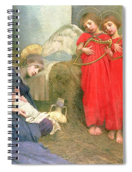 Angels Entertaining The Holy Child Spiral Notebook