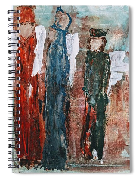 Angels Of The Night Spiral Notebook