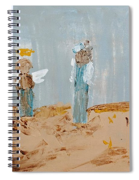 Angels Taking Care Of E Spiral Notebook
