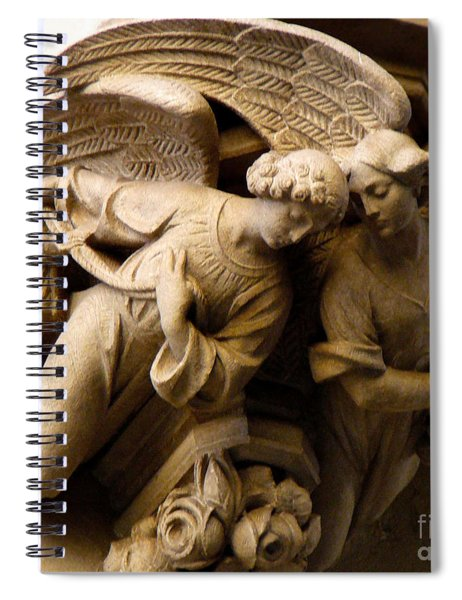 Angels Watch Over Me Spiral Notebook