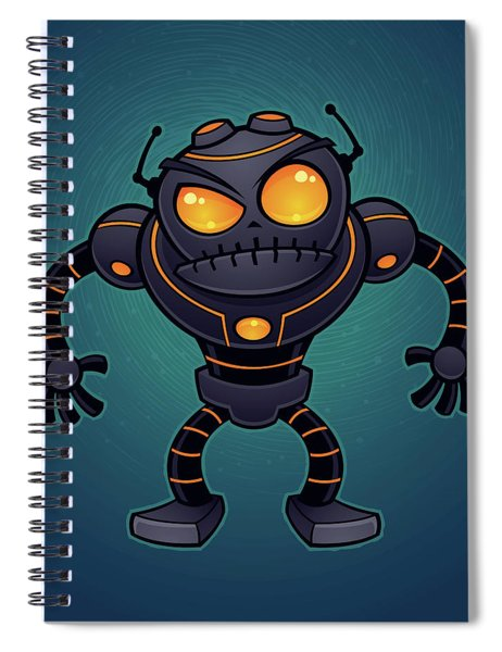 Angry Robot Spiral Notebook