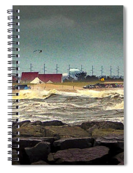 Angry Surf At Indian River Inlet Spiral Notebook