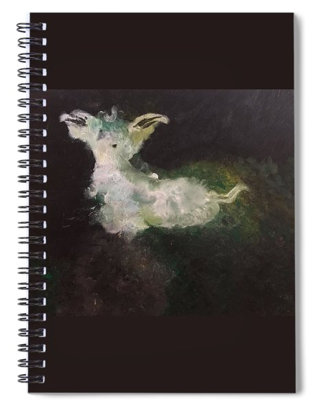 Spiral Notebook featuring the painting Animal Lover  by Samimah Houston