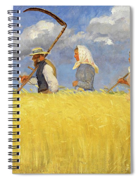 Anna Ancher Harvesters 1905 Spiral Notebook by Movie Poster Prints