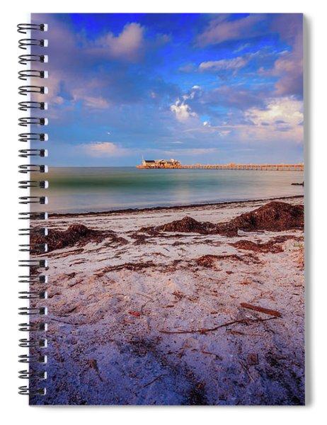 Spiral Notebook featuring the photograph Anna Maria City Pier by Doug Camara