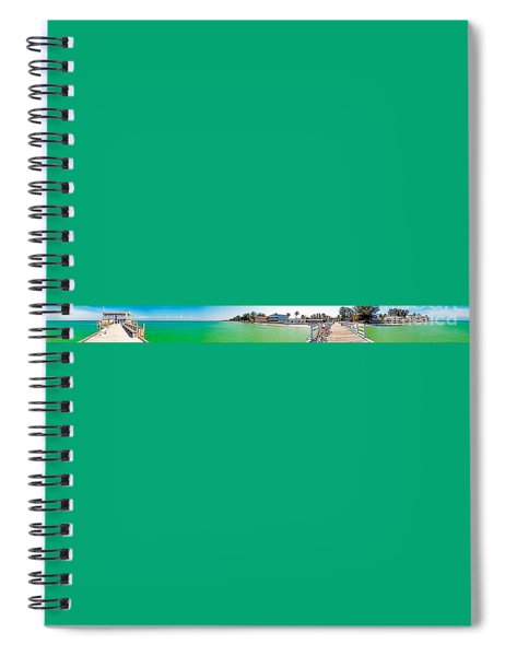 Anna Maria Island With Rod And Reel Pier Spiral Notebook