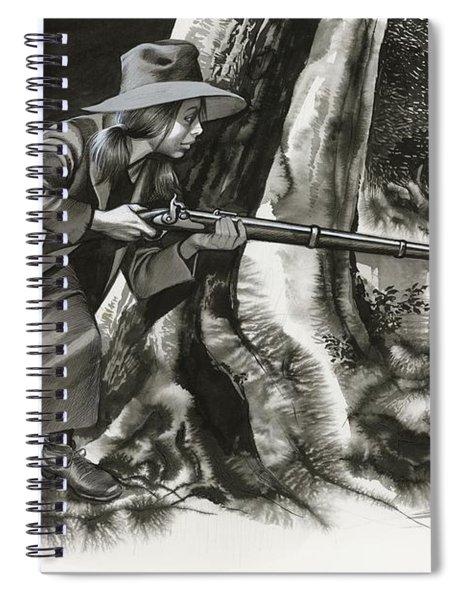 Annie Oakley Shooting A Buck Spiral Notebook