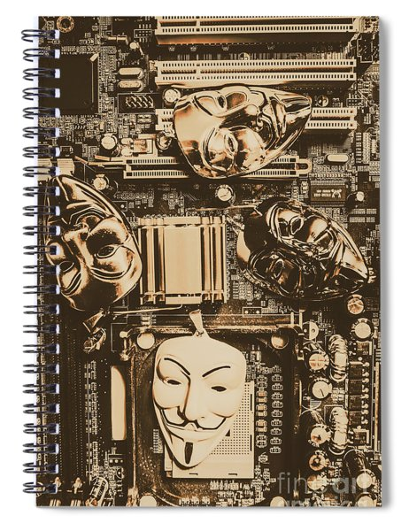 Anonymous Cyber Masks Spiral Notebook