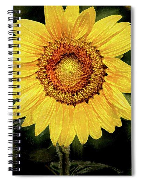 Another Artistic Sunflower Spiral Notebook
