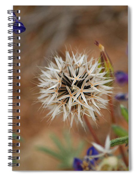 Another White Flower Spiral Notebook