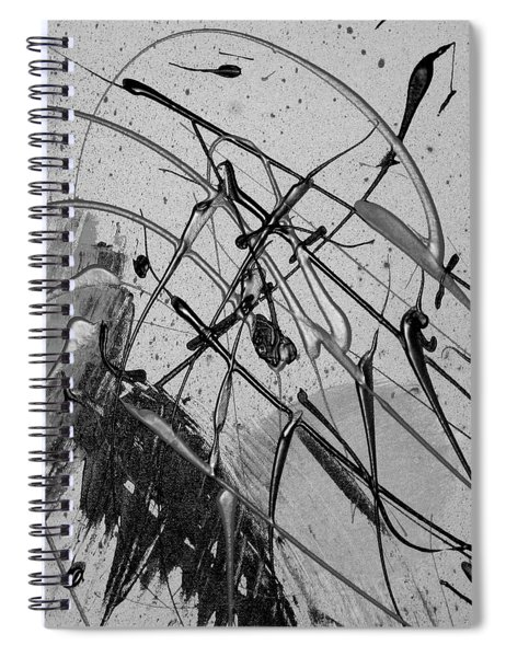Spiral Notebook featuring the painting Another World by Michael Lucarelli