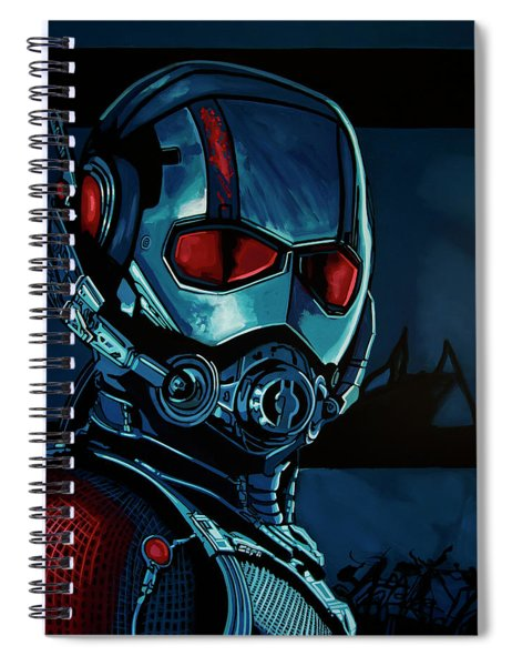 Ant Man Painting Spiral Notebook