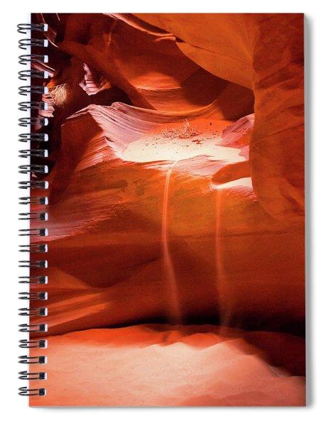 Antelope Canyon - The Falls Spiral Notebook