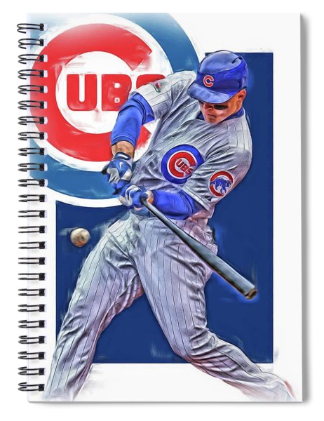 Anthony Rizzo Chicago Cubs Oil Art Spiral Notebook