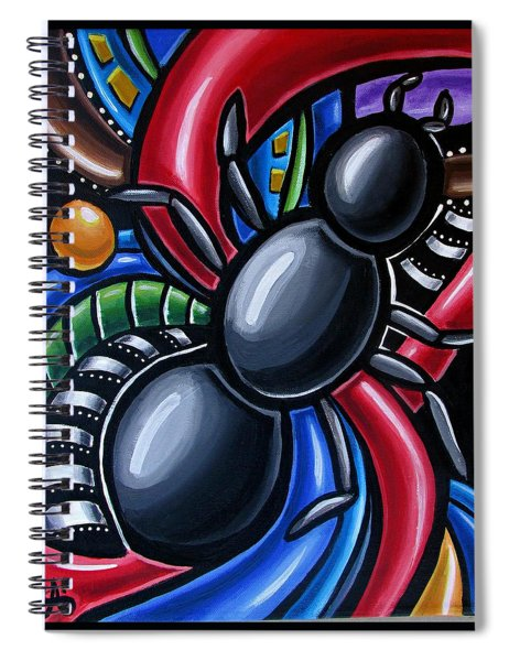 Ant Art Painting Colorful Abstract Artwork - Chromatic Acrylic Painting Spiral Notebook