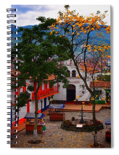 Spiral Notebook featuring the photograph Antioquia by Skip Hunt