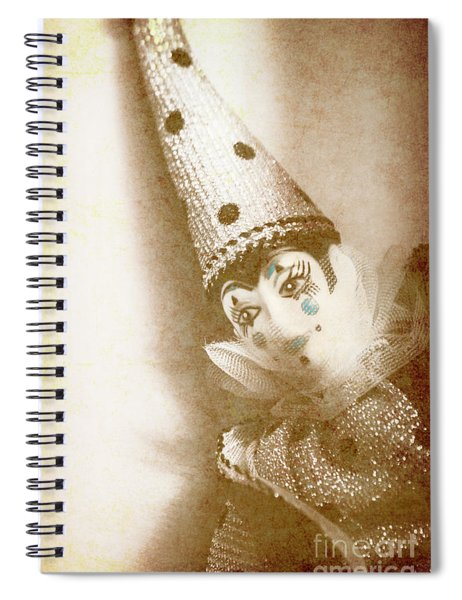 Antique Carnival Doll Spiral Notebook